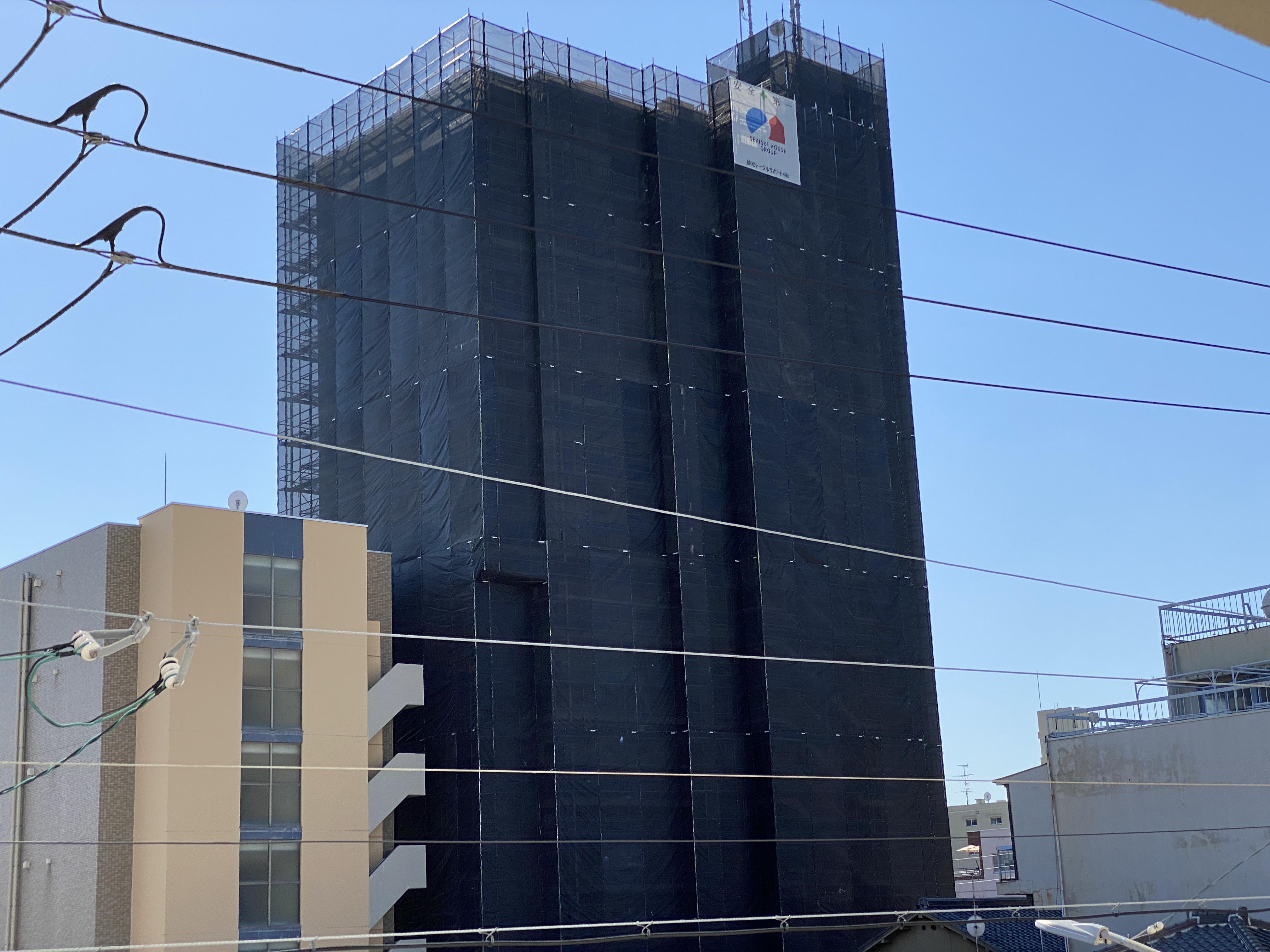 名古屋市中区にてマンション大規模修繕工事スタートしました!
